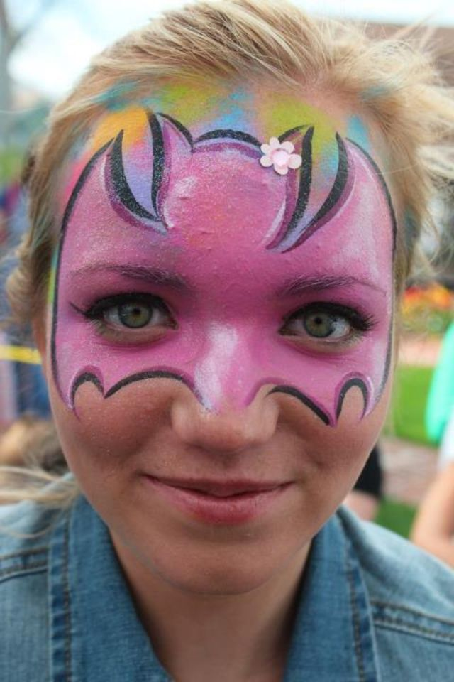 Face Painting Designs Bat Adapt With Other Colours To Suit Costume Lose The Head And