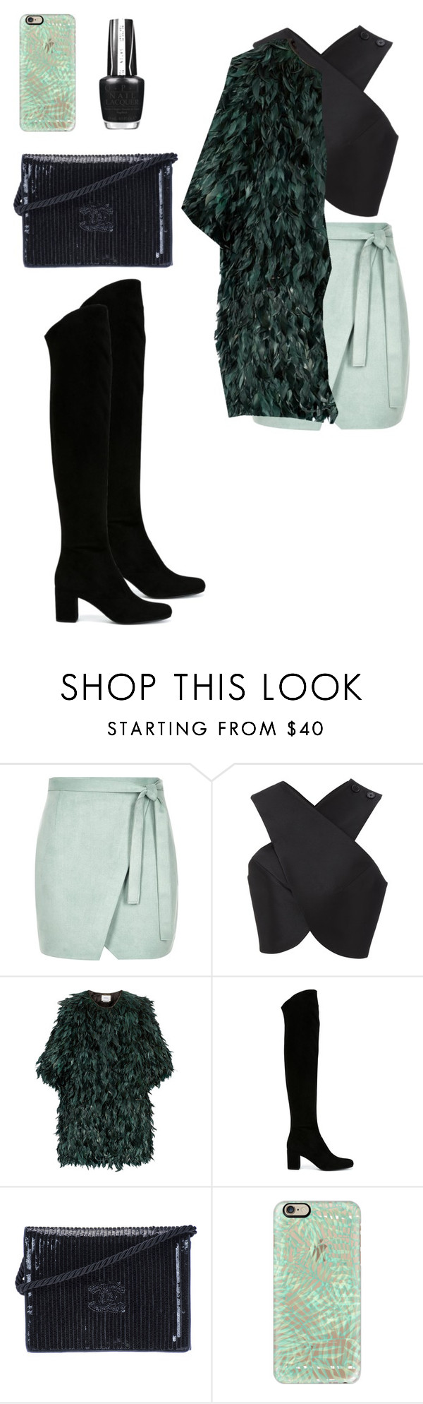 """""""Untitled #389"""" by coockie-and-black-forest-gateaus ❤ liked on Polyvore featuring moda, River Island, Carven, Erdem, Yves Saint Laurent, Chanel, Casetify, OPI, women's clothing y women"""