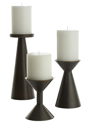 Cohen Black Metal Pillar Candle Holders Set Of 3 In 2020 Black Pillar Candles Glass Cylinder Candle Holders Candle Holders