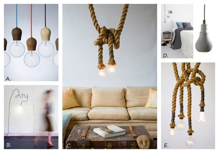 Exposed bulb lighting in interiors design lovers blog rope atelier 688 original manila rope lights by on etsy these are so cool aloadofball Image collections