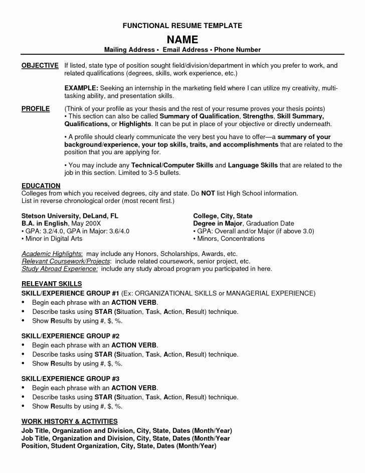 Resume Format For Bsc Zoology Resume Templates Functional Resume Template Functional Resume Resume Template Word