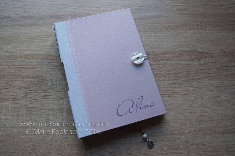 Babytagebücher - Individuelles Babytagebuch - A5 - Rosa - ein Designerstück von mpodleisek bei DaWanda