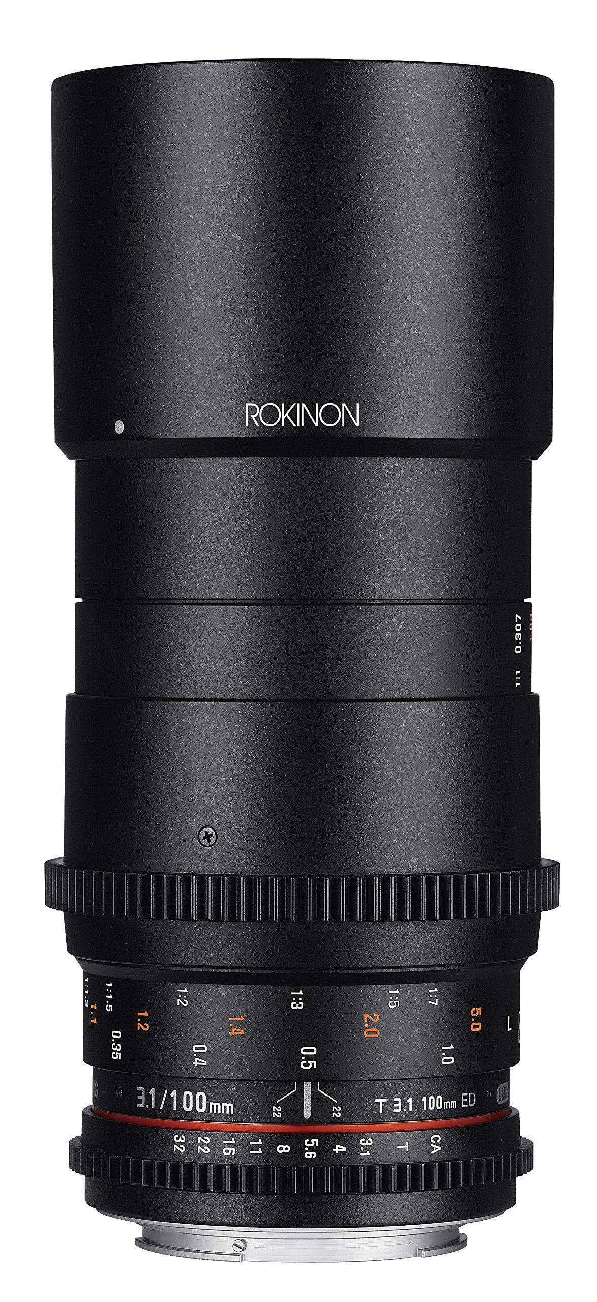 Rokinon Cine DS 100mm T3.1 ED UMC Full Frame Telephoto Macro Cine ...
