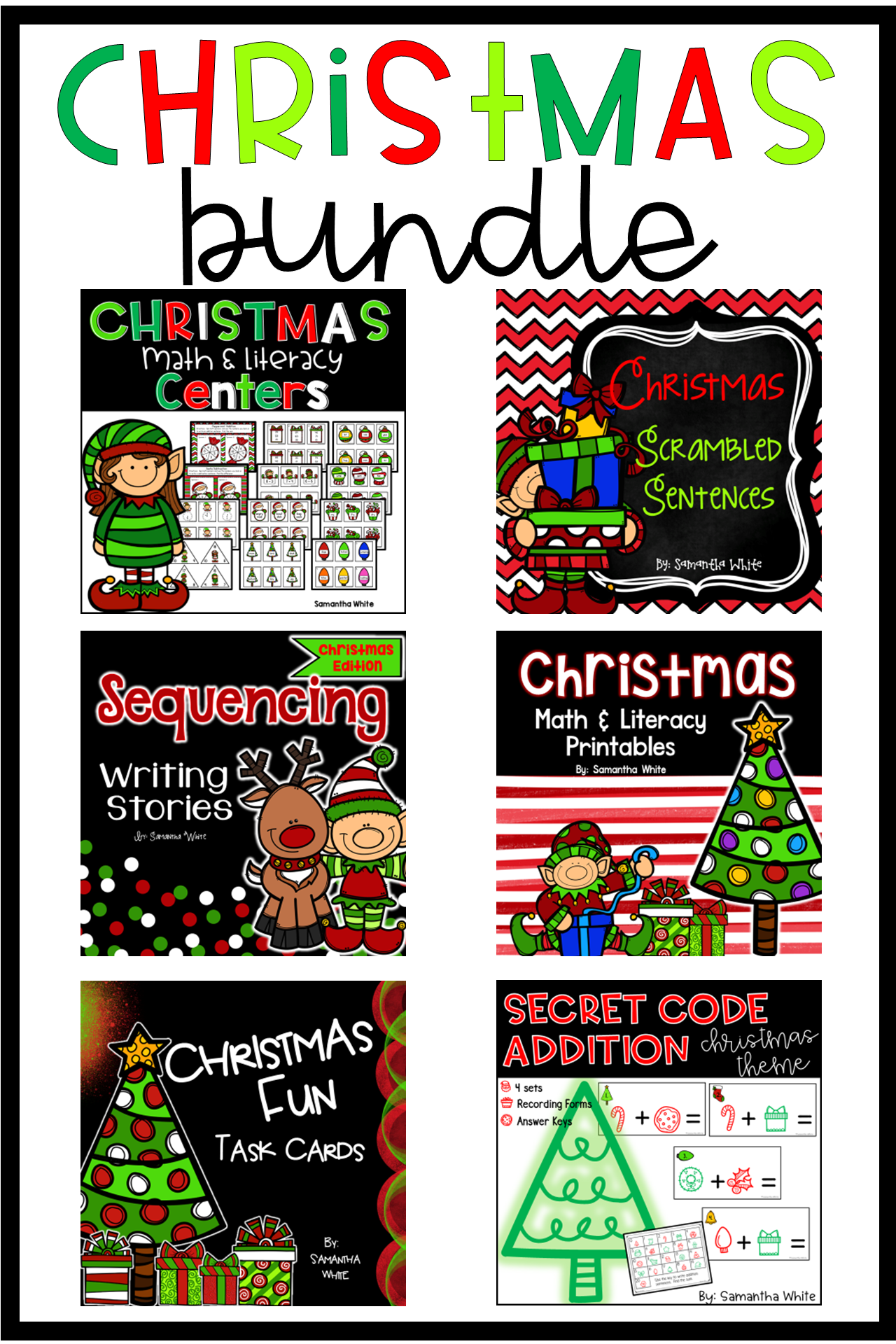 Christmas Centers Writing Worksheets Amp Task Cards