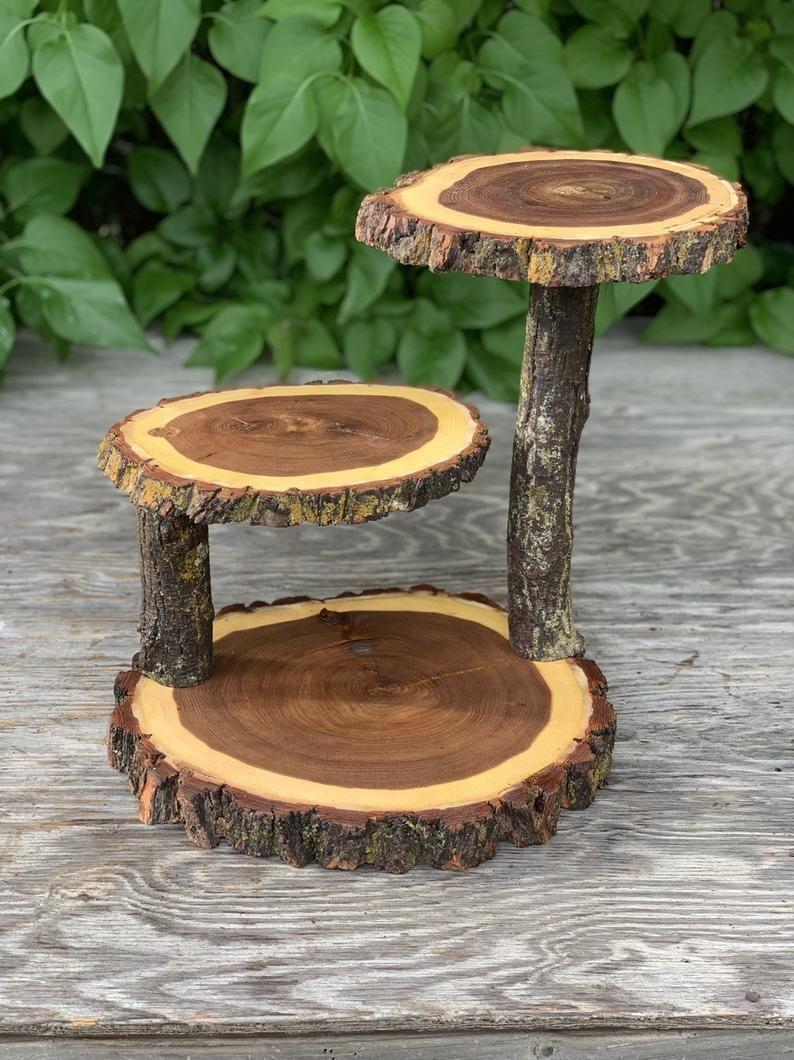 48++ Wooden tiered wedding cake stand information