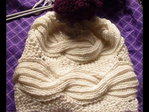 2 طاقية تريكو بغرزة ضغيرة البليسية او الريب حريمي رجالي اطفالknitting Cap With Braid St Cable Knitting Patterns Lace Knitting Patterns Aran Knitting Patterns