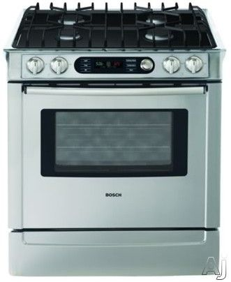 Bosch Hdi7282u 30 Inch Slide In Dual Fuel Range With 4 Sealed Burners 4 6 Cu Ft European Convection Oven Hidden Bake Element Temperature Probe And Warming Slide In Range Cooking Range Convection Range