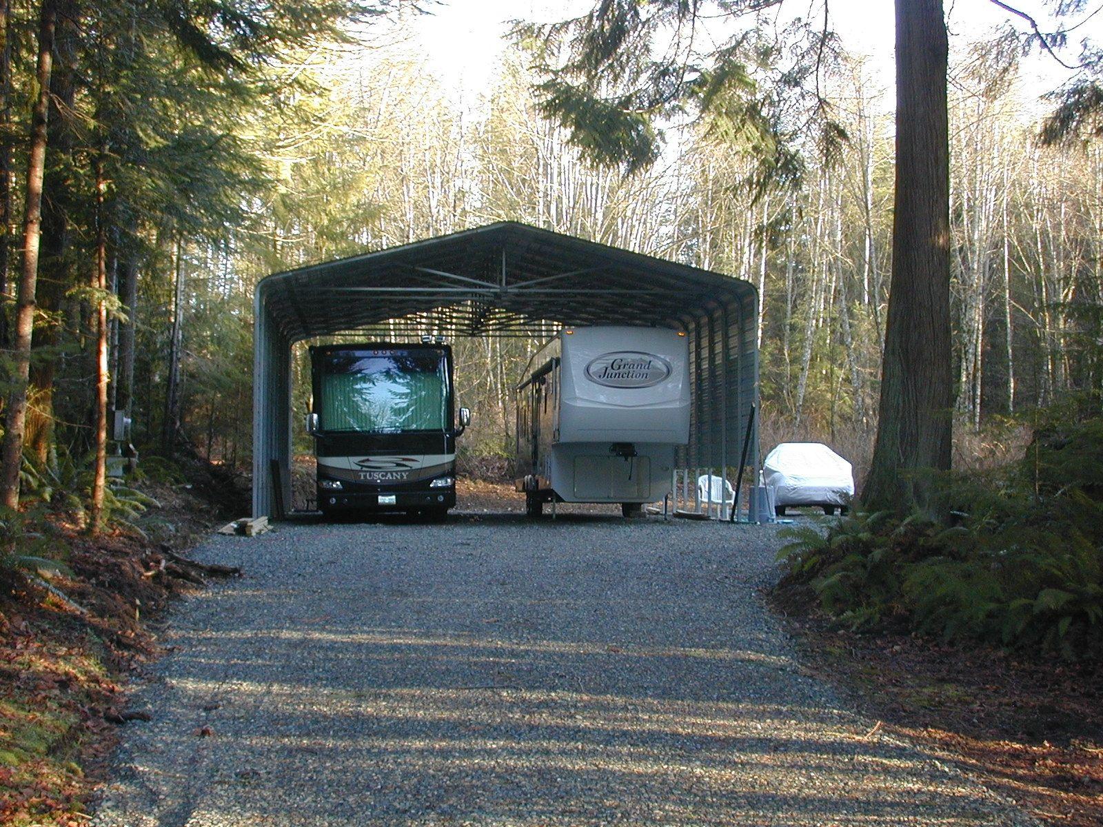 Double Rv Steel Carport By Absolute Steel Steel Carports Rv Carports Rv Covered Parking