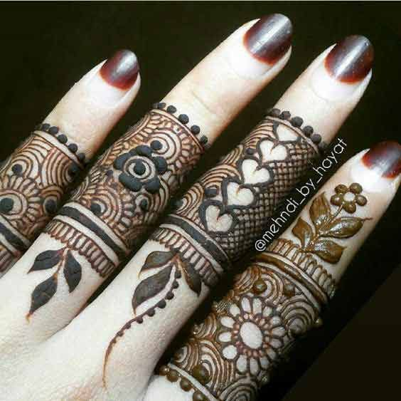 Latest Finger Mehndi Designs 2019 For Hands Henna Mehndi Designs
