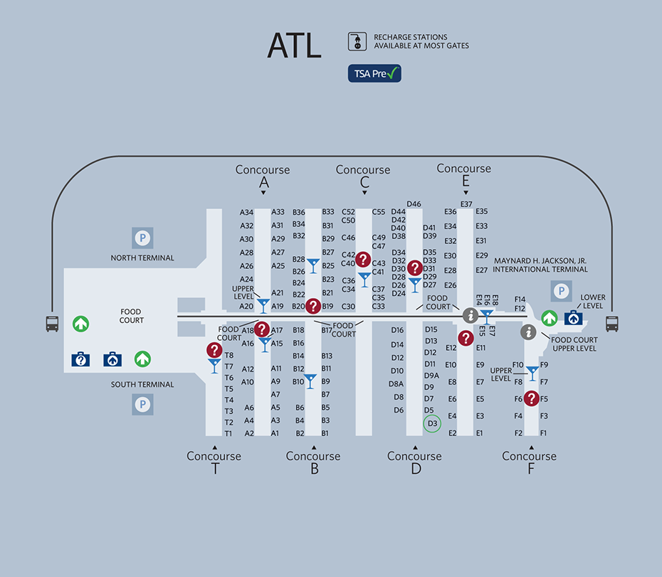 atlanta airport south terminal map Atlanta Airport Map Airport Map Atlanta Airport Airport atlanta airport south terminal map