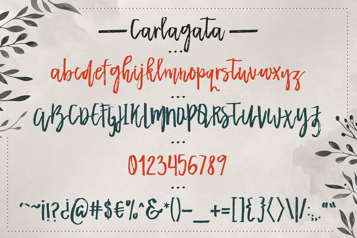 Download Carlagata in 2020 | Best free fonts, Font packs, Hand ...