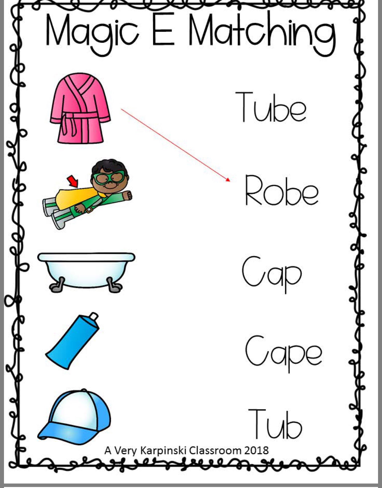 Differentiated Magic E Worksheets
