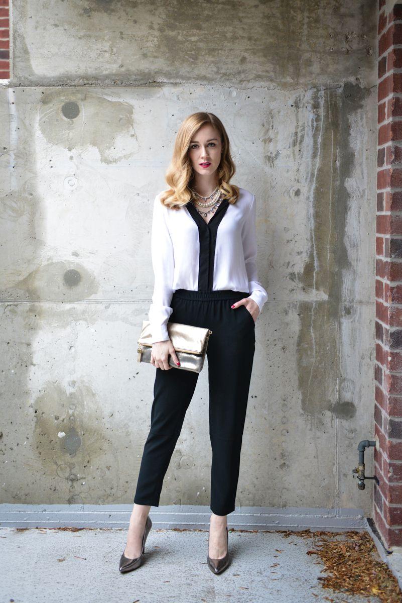 Ann Taylor: Black and White Elegance