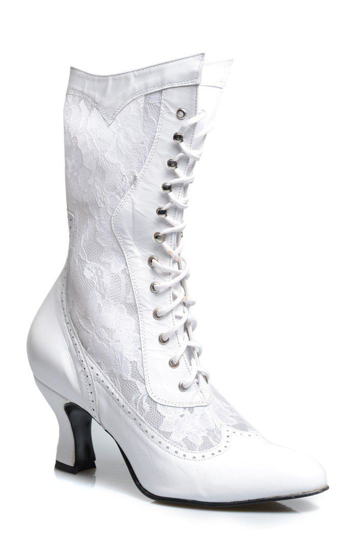 Vintage Style Wedding Shoes Boots Flats Heels Victorian Inspired Leather Lace In