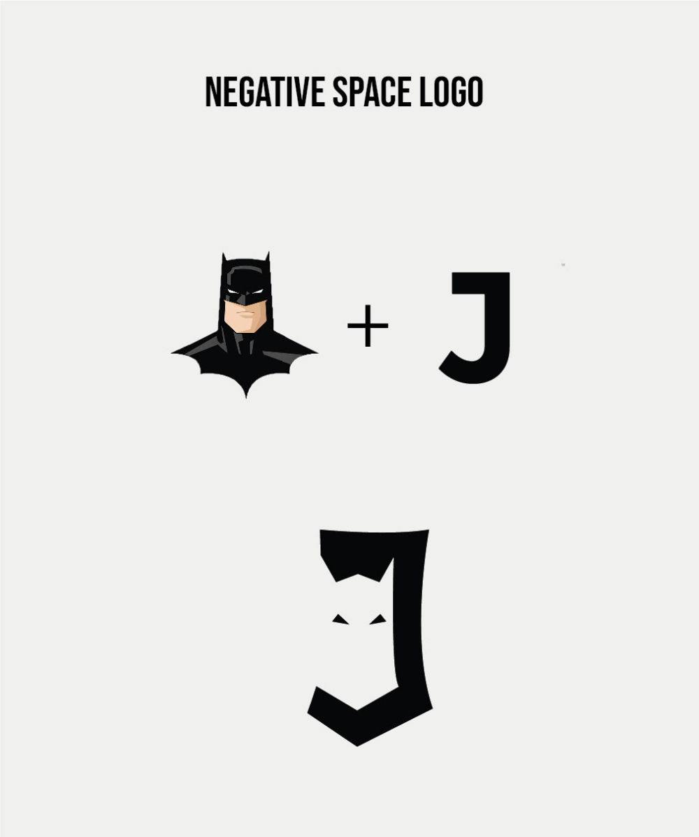 Negative Space Logo on Behance in 2020 Negative space