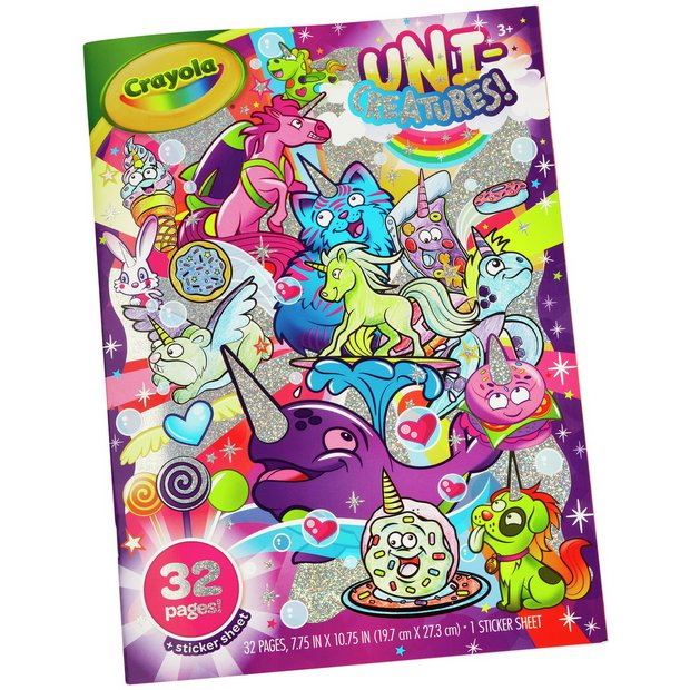 buy crayola unicreatures colouring pack  2 for  pounds