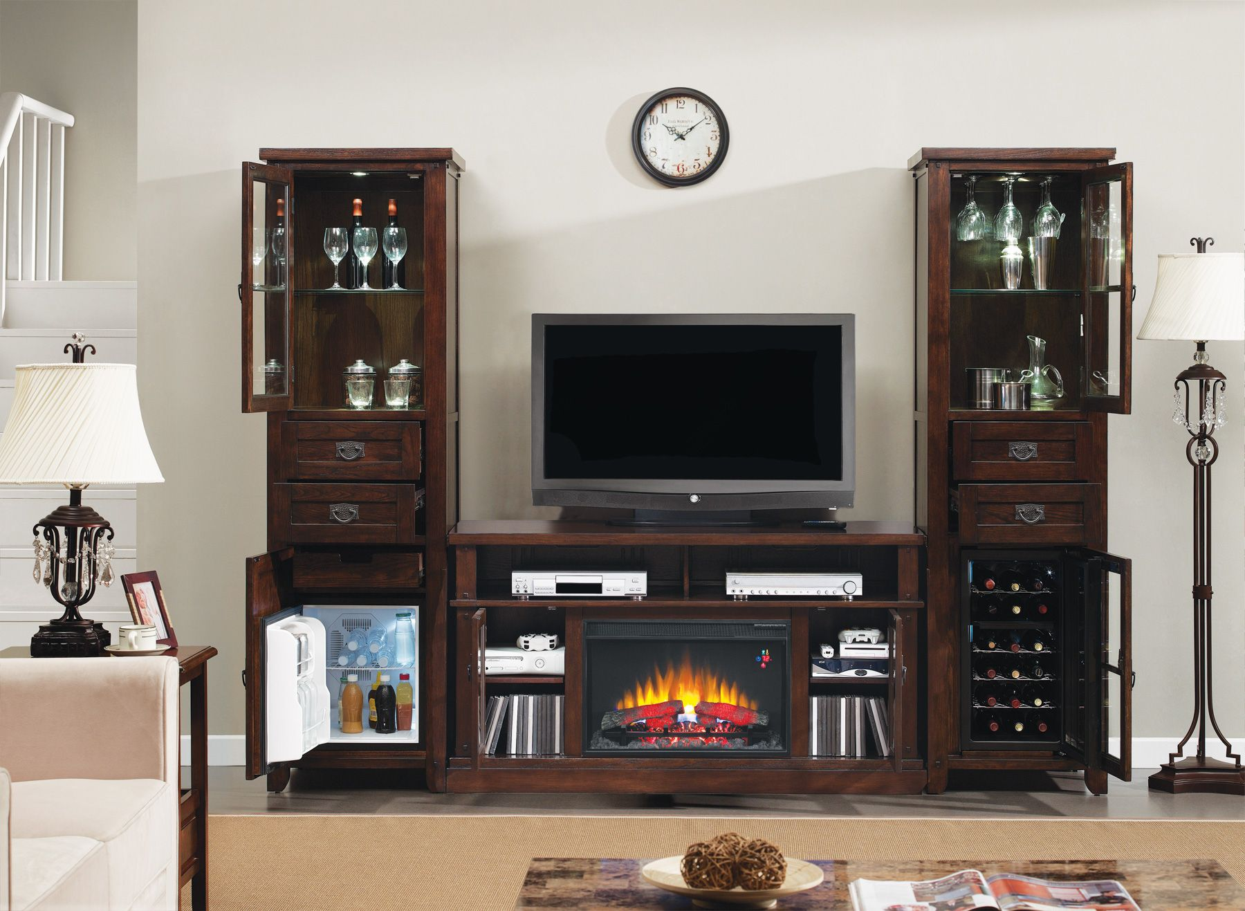 This Combination Shows A Classicflame Electric Fireplace