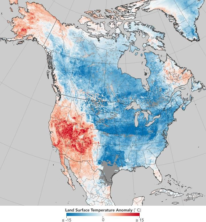 Nasa map shows just how drastically us weather has changed in the nasa map shows just how drastically us weather has changed in the past eight years nasa change and climate change gumiabroncs Gallery