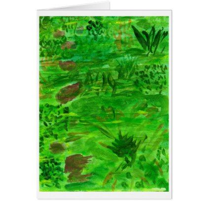 Green green grass in field note card - field note