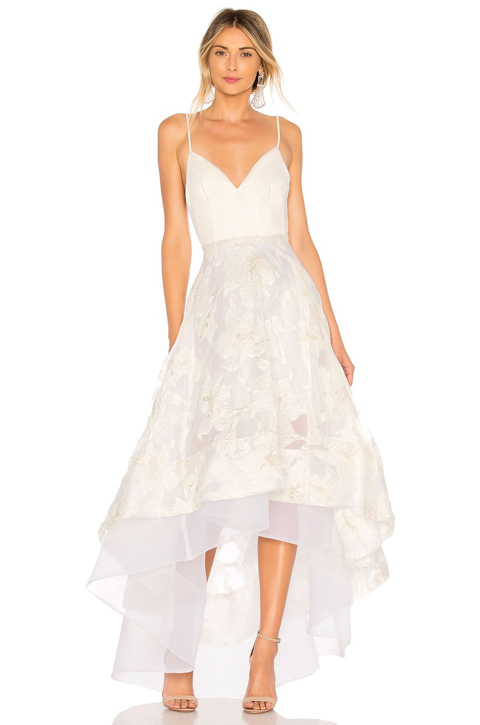 White gold wedding dress  Bronx and Banco Alexia Gown in White u Gold  I Might  Pinterest