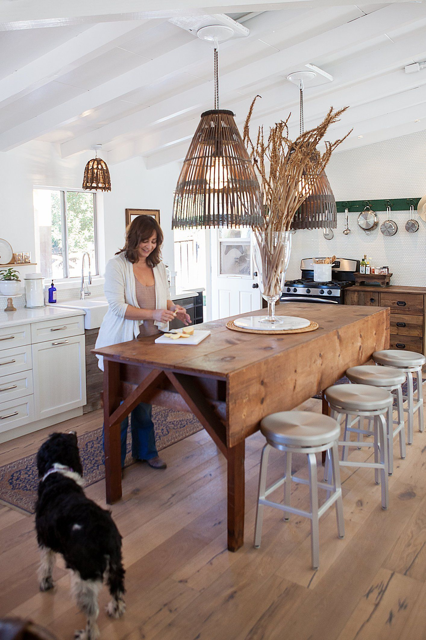 Kitchen island you can eat at - A Rustic Refined California Ranch House