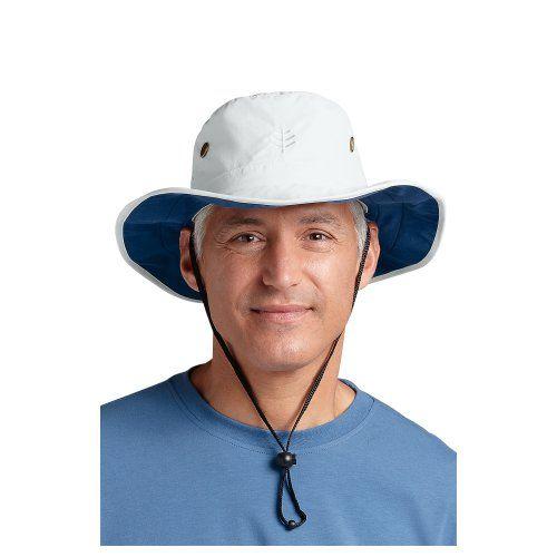 69b73370963 Coolibar UPF 50+ Men s Shapeable Wide Brim Hat - Sun Protective (Large X