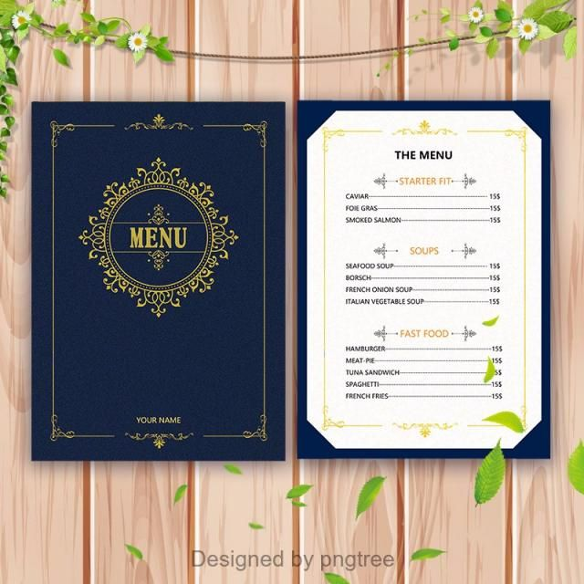 menu templates menu breakfast food brunch restaurant design vector