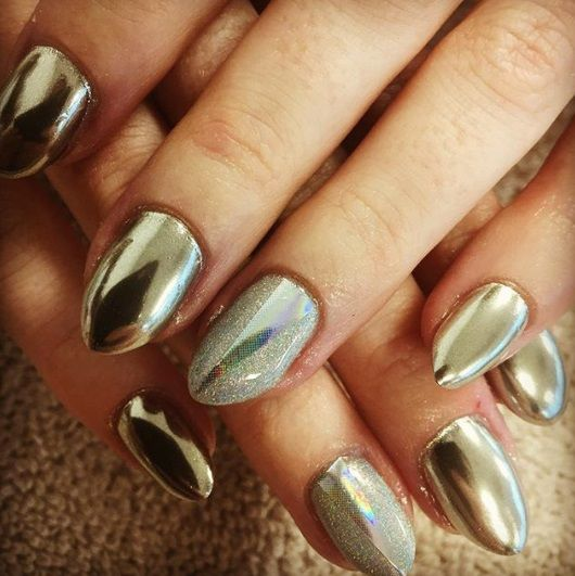 chrome nails by sketchnails