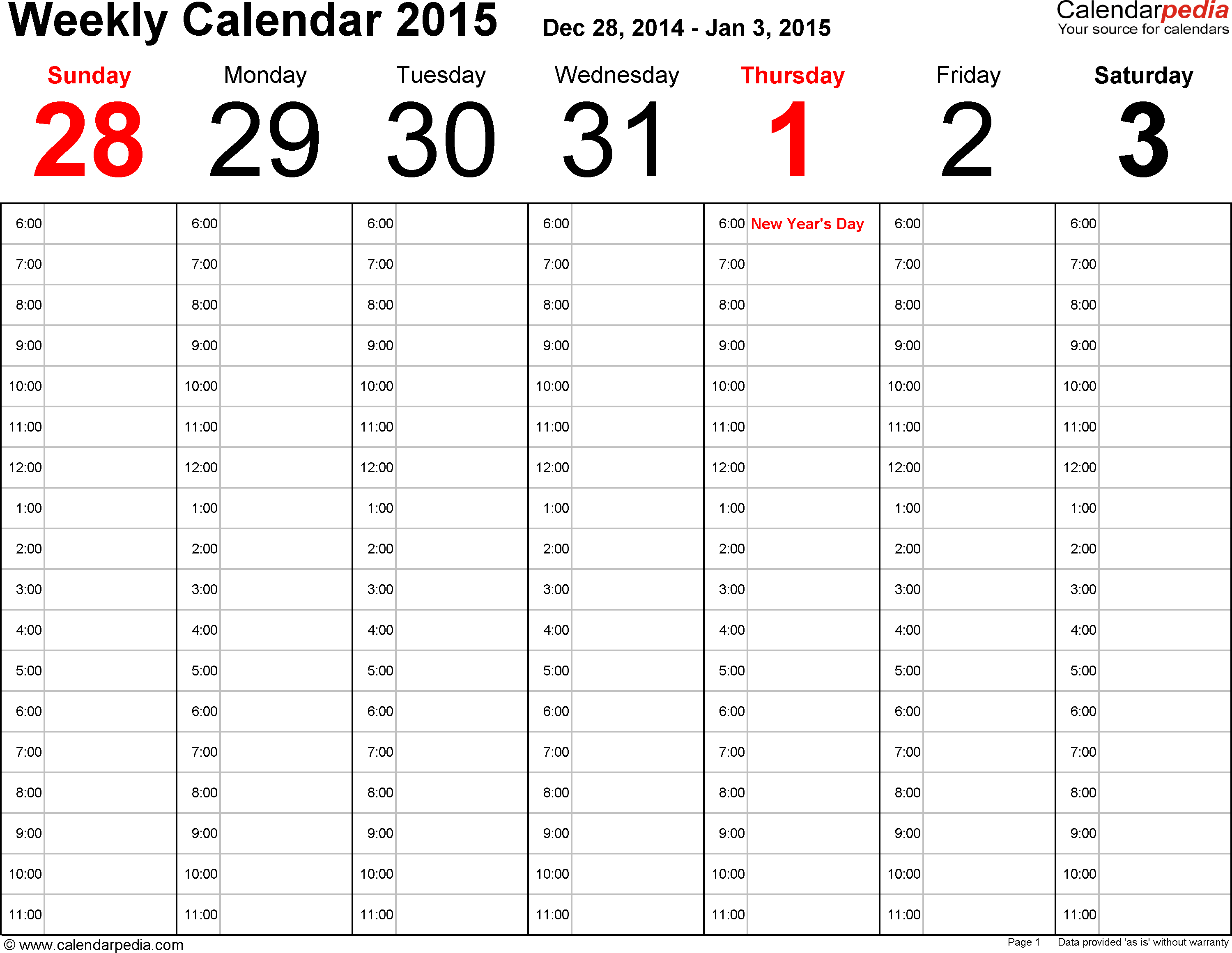 Calendarpedia  Free Printable Fillable Calendar Templates Of All