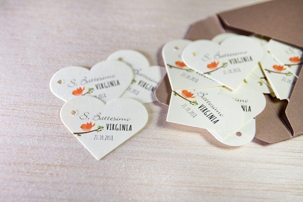 Tag Con Uccellino Bigliettini Battesimo Etichette Personalizzate Etichette Per Bomboniere Tag Battesimo Bigliettini Cerimonia Bird Place Card Holders Place Cards Cards
