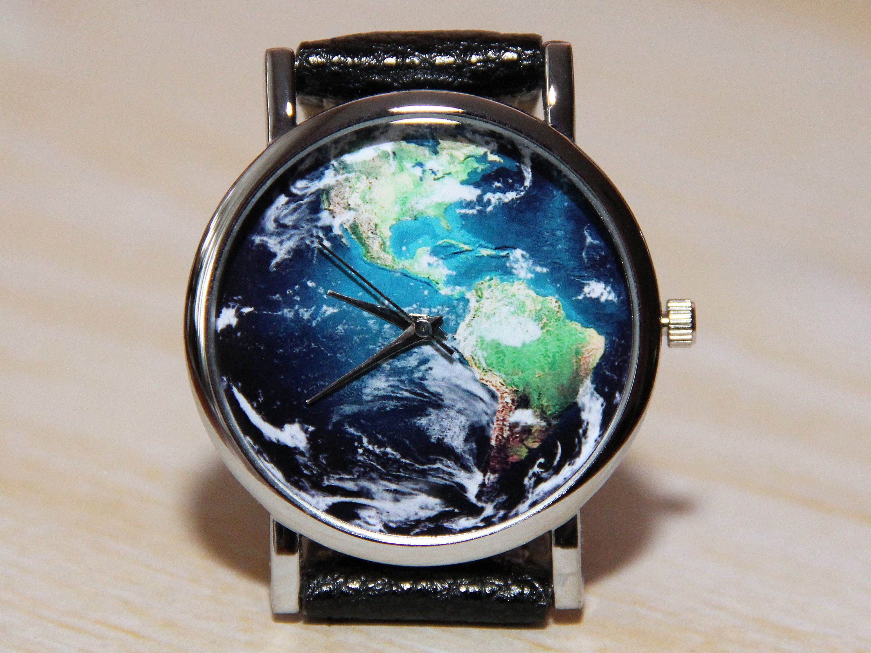 Wrist Watch Planet World Map Watch Watch Earth Unique