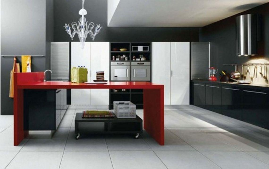 Black White And Red Kitchen Design  Red Kitchen Kitchen Design Pleasing Kitchen Design Red And Black Design Ideas