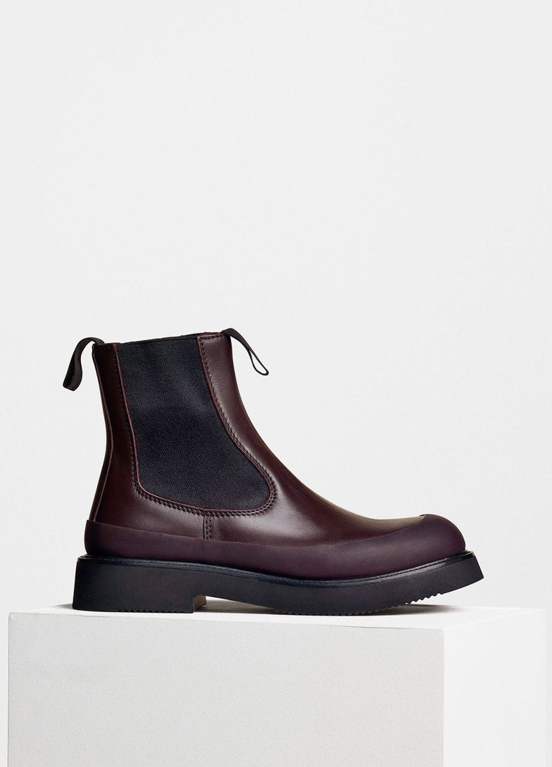 Country Boot Ankle Boot in Calfskin - Céline