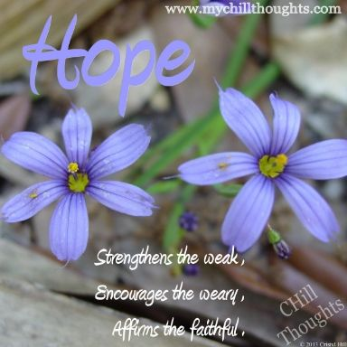 Hold onto your HOPE.