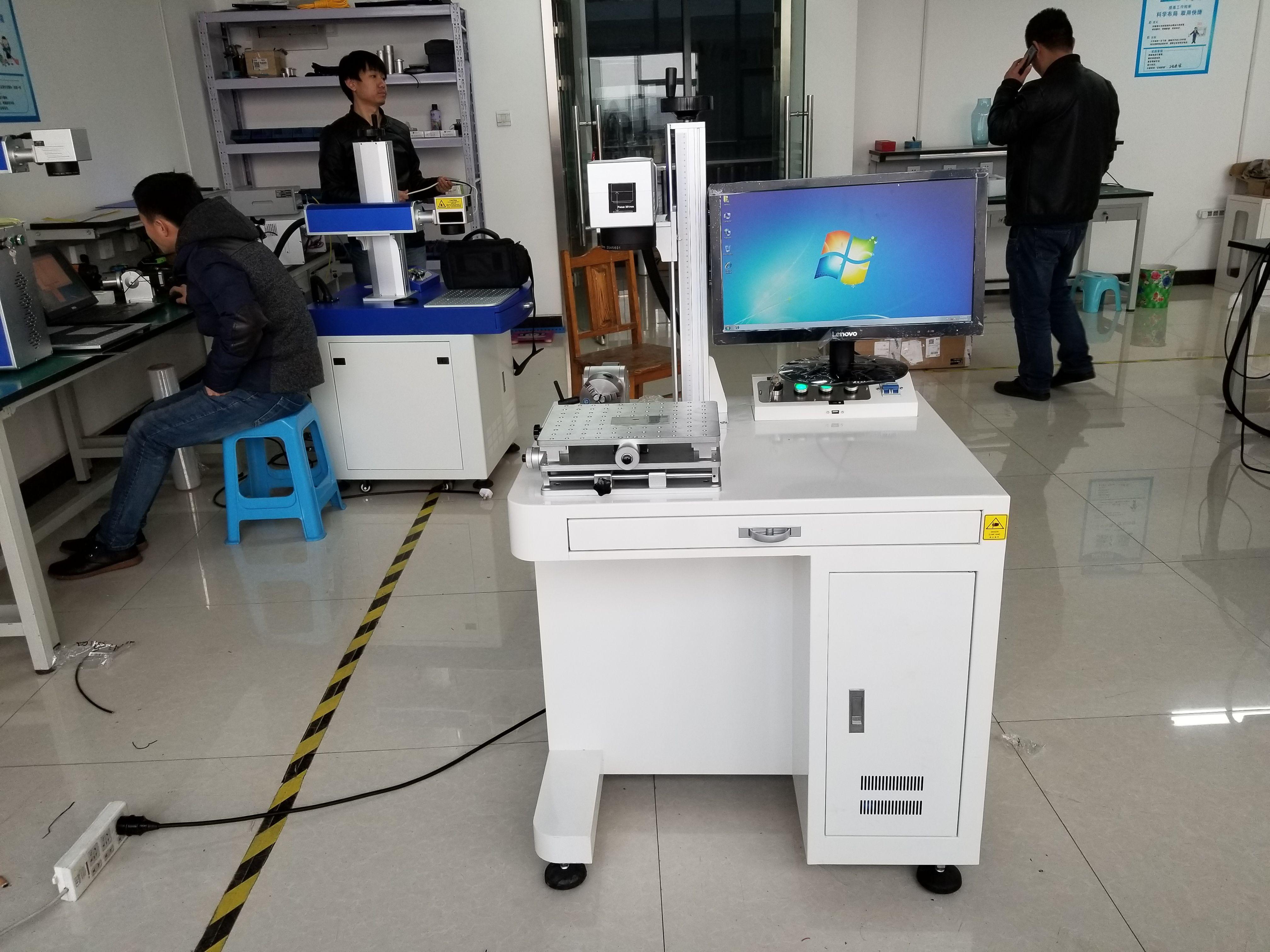 Desktop Fiber Laser Marking Machine For Metal And Non Metal Laser Marking Laser Fiber