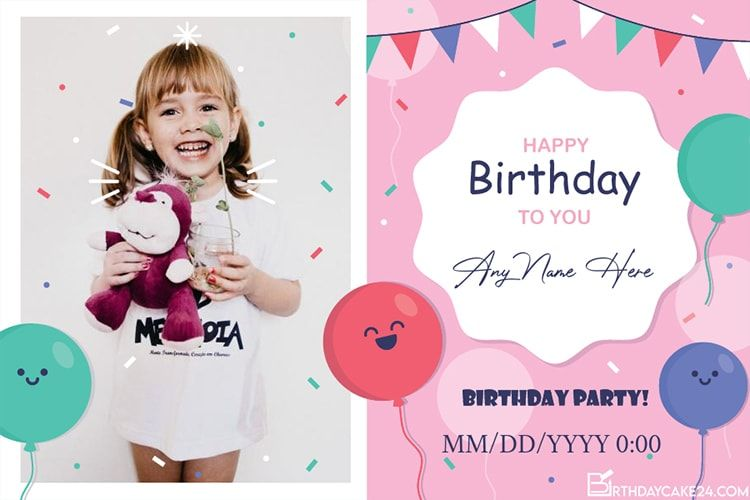 Create Your Own Lovely Online Birthday Party Invitation Card With Our New Effect Online Party Invitations Free Birthday Invitations Create Birthday Invitations