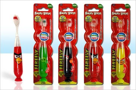 My niece would love this..Angry Birds Flashing Child's Toothbrush - Save 54% - Just $6