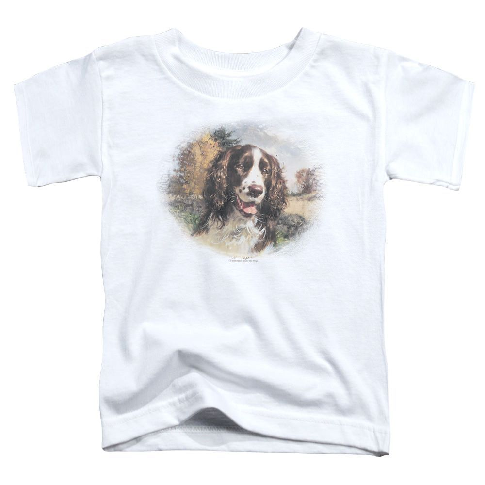 Wildlife Springer Spaniel Head White Toddler T-Shirt