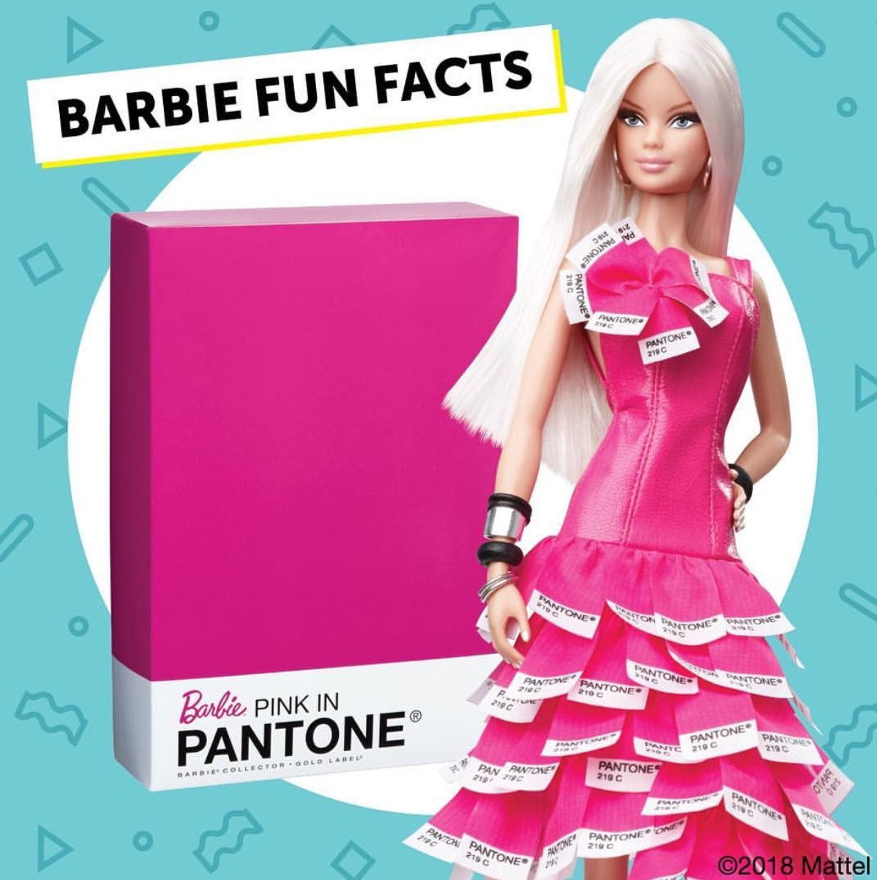 Blonde barbie pink dress  Barbie pink  Barbie Obsession  Pinterest