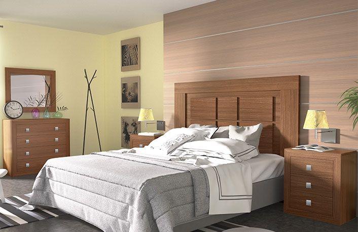 Dormitorio matrimonio cabecero plafon y comoda   Bases de camas ...