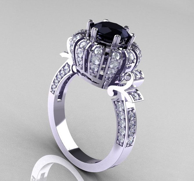 Black Diamond Engagement Rings Expensive And Luxuary Rings