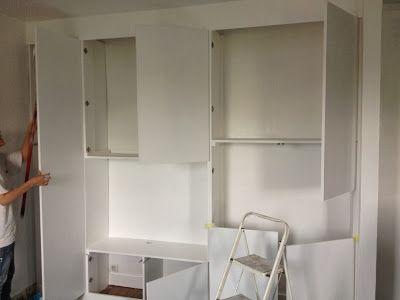 Diy Un Mur De Placards Avec Images Amenager Petit Salon Salle A Manger Construire Un Placard Faire Un Placard