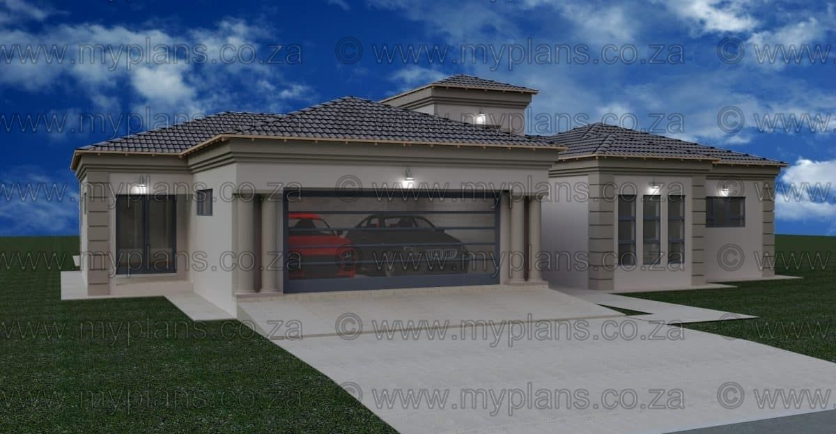 3 Bedroom House Plan Mj 001 1 My Building Plans South Africa Round House Plans Bedroom House Plans My House Plans