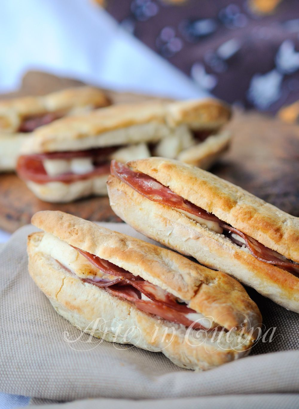 Bauletti salati farciti ricetta finger food veloce vickyart arte in cucina
