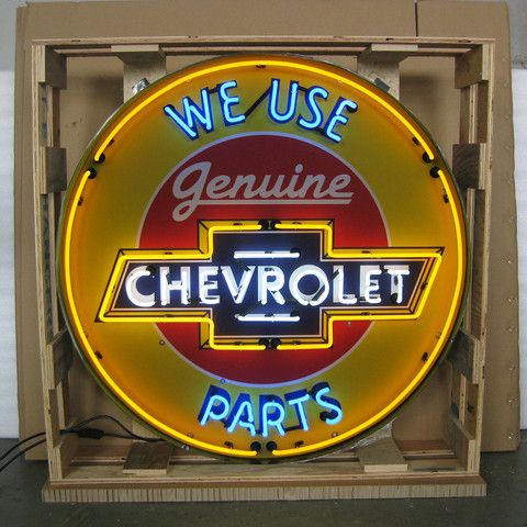 Neon Sign in Metal Can - Chevrolet 36 Inch – Oldies of Usa Partners