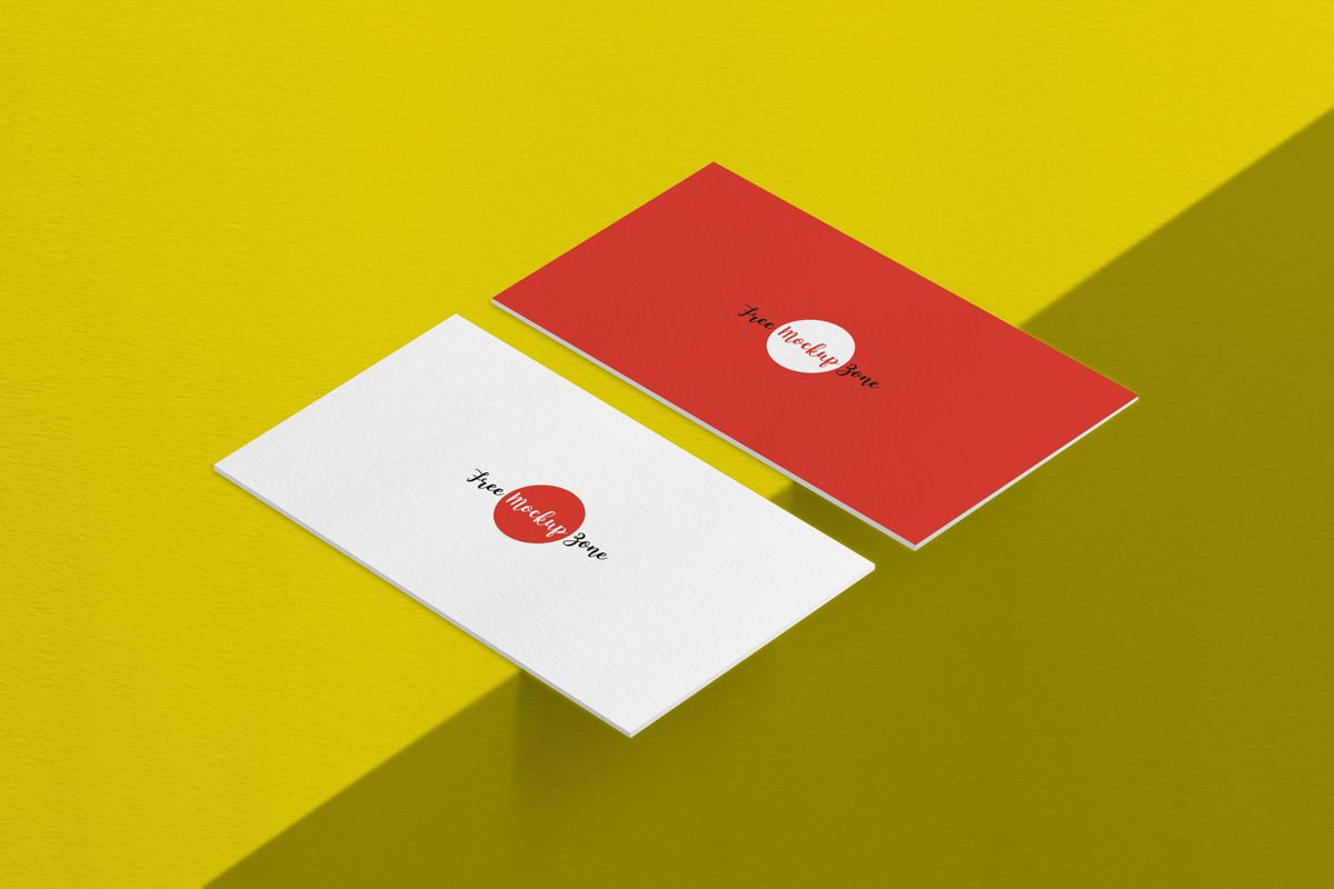 Free-Texture-Background-Front-&-Back-Business-Card-Mockup | Busness ...