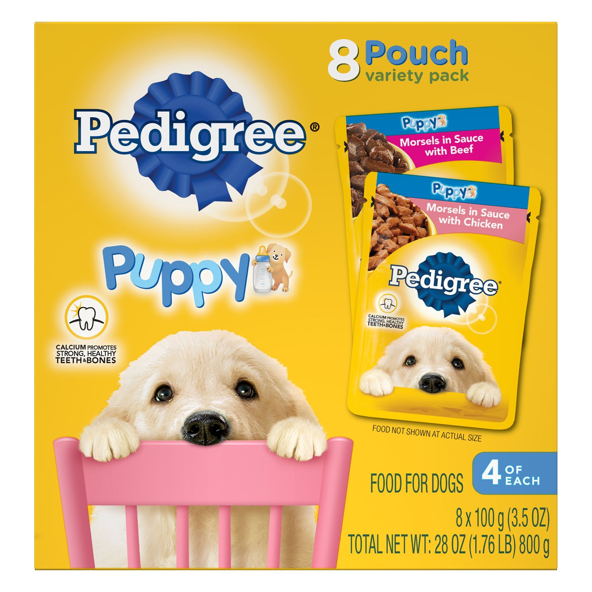 Pedigree Puppy Food Variety Pack 8ct Size 3 5 Oz Bone Copper