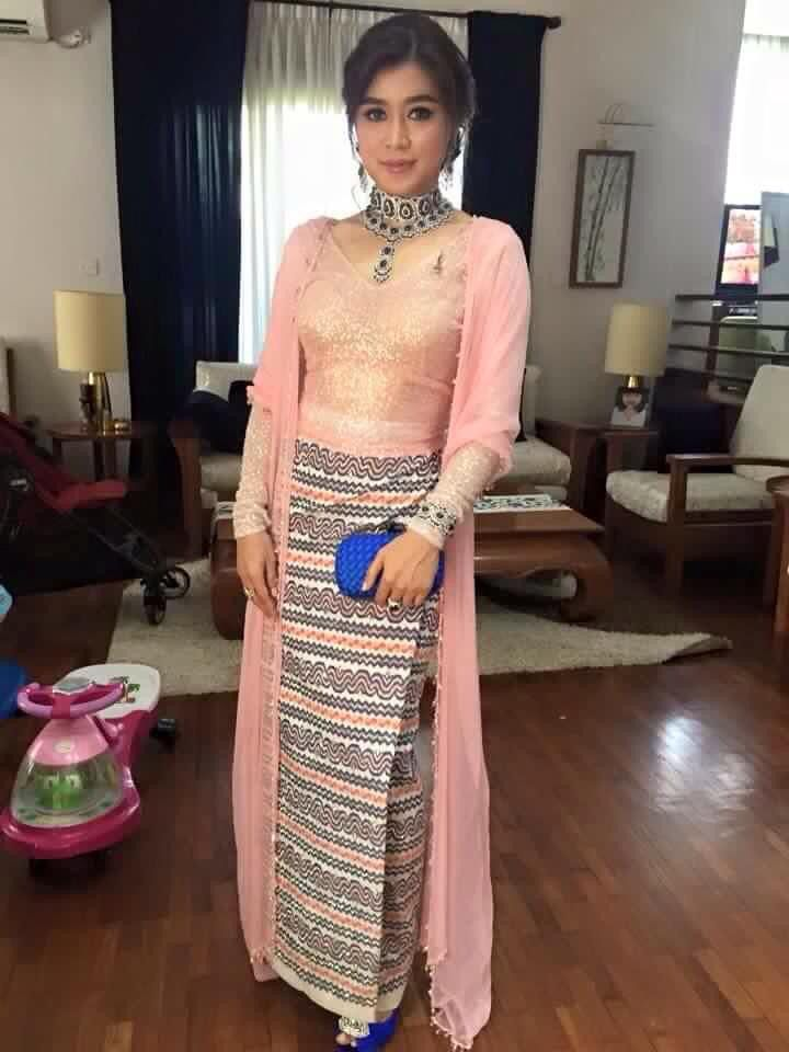 Eaindra Kyaw Zin Myanmar Dress Design Myanmar Traditional Dress Traditional Dresses