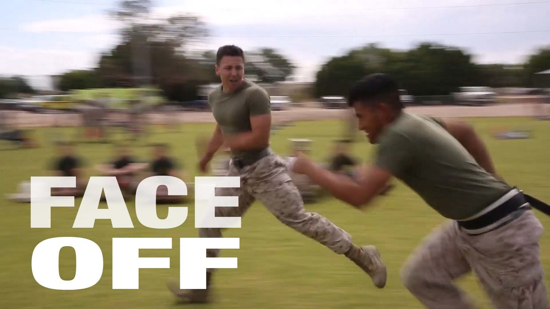 Marines Face Off for Field Meet
