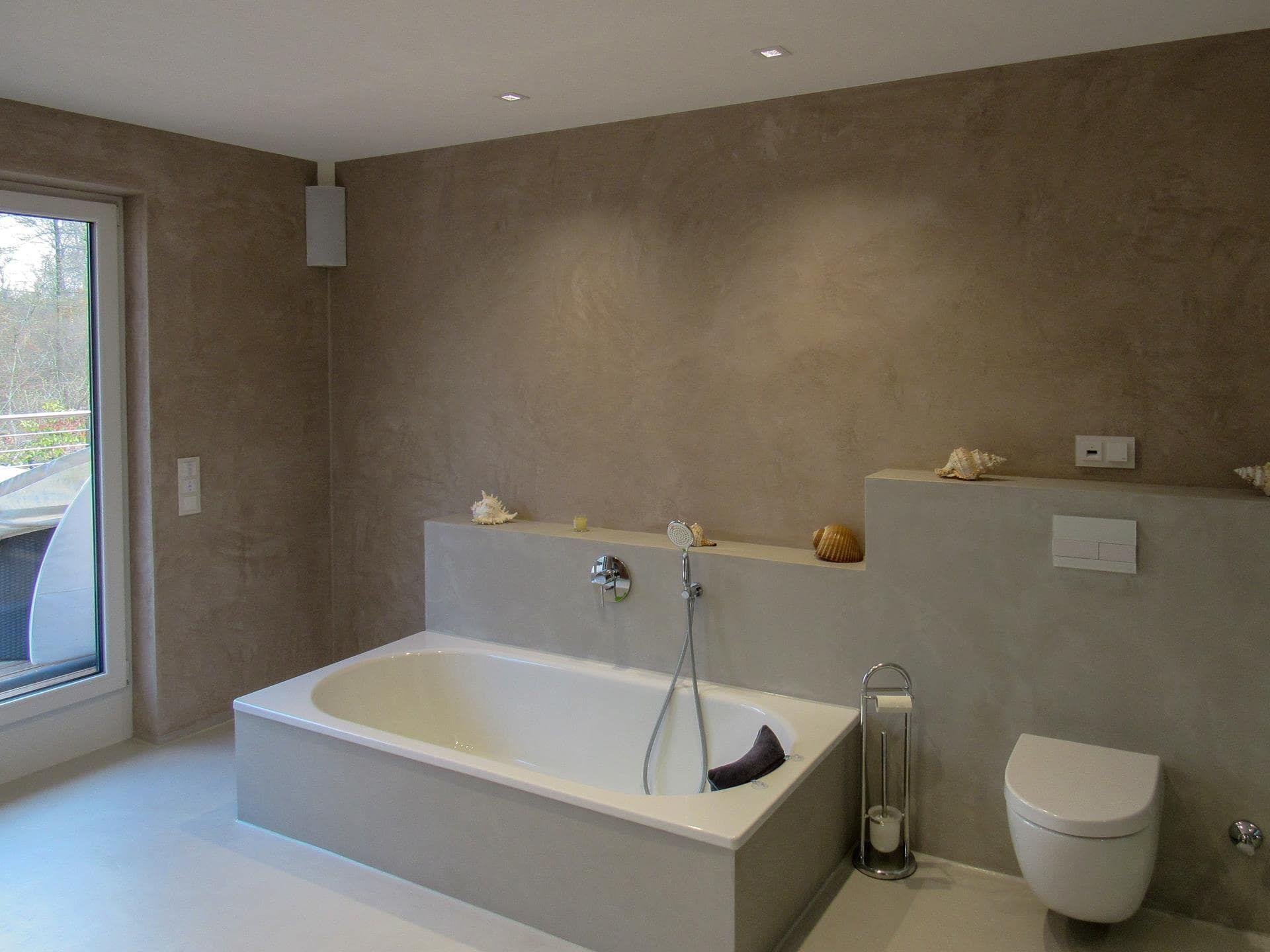 Fugenlos Gespachteltes Bad Ohne Fliesen Badezimmer Badezimmer Design Bad Design